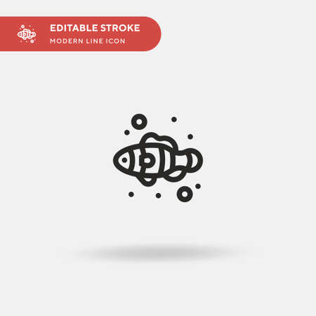 Clownfish Simple vector icon. Illustration symbol design template for web mobile UI element. Perfect color modern pictogram on editable stroke. Clownfish icons for your business project Illusztráció