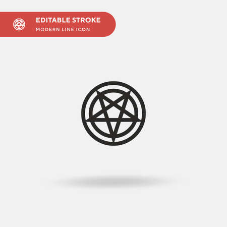 Satanism Simple vector icon. Illustration symbol design template for web mobile UI element. Perfect color modern pictogram on editable stroke. Satanism icons for your business project