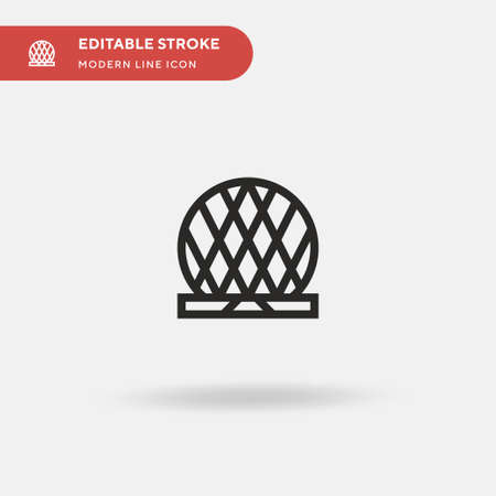 Aldar Simple vector icon. Illustration symbol design template for web mobile UI element. Perfect color modern pictogram on editable stroke. Aldar icons for your business project