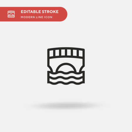 Canals Simple vector icon. Illustration symbol design template for web mobile UI element. Perfect color modern pictogram on editable stroke. Canals icons for your business project