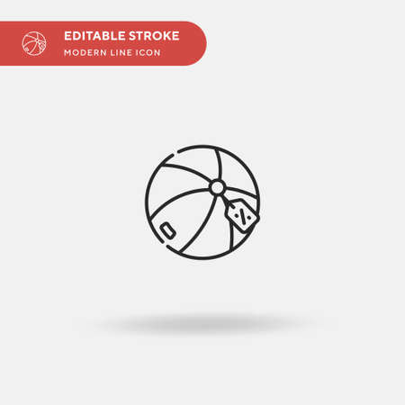 Beach Ball Simple vector icon. Illustration symbol design template for web mobile UI element. Perfect color modern pictogram on editable stroke. Beach Ball icons for your business project Illustration