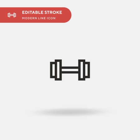 Gym Simple vector icon. Illustration symbol design template for web mobile UI element. Perfect color modern pictogram on editable stroke. Gym icons for your business project