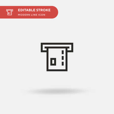 Atm Simple vector icon. Illustration symbol design template for web mobile UI element. Perfect color modern pictogram on editable stroke. Atm icons for your business project Ilustração