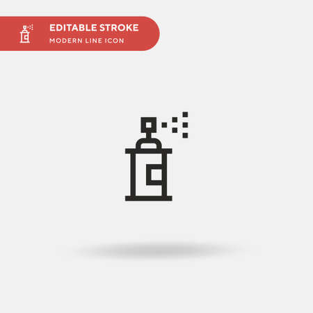 Spray Paint Simple vector icon. Illustration symbol design template for web mobile UI element. Perfect color modern pictogram on editable stroke. Spray Paint icons for your business project