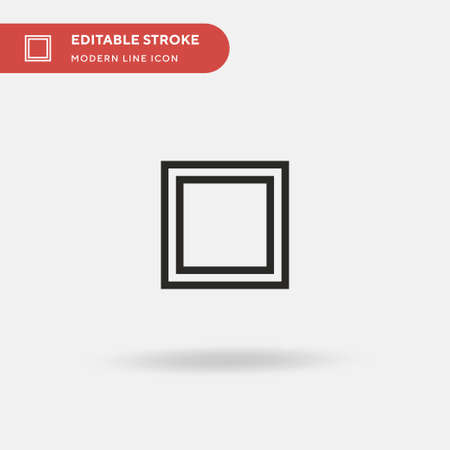 Cuadrature Simple vector icon. Illustration symbol design template for web mobile UI element. Perfect color modern pictogram on editable stroke. Cuadrature icons for your business project