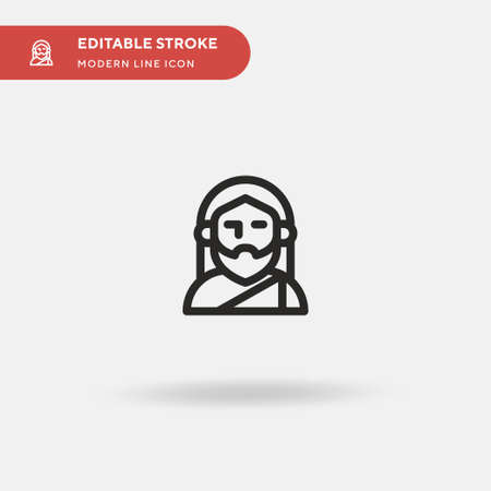 Saint Simple vector icon. Illustration symbol design template for web mobile UI element. Perfect color modern pictogram on editable stroke. Saint icons for your business project Ilustração