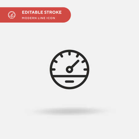 Measuring Simple vector icon. Illustration symbol design template for web mobile UI element. Perfect color modern pictogram on editable stroke. Measuring icons for your business project