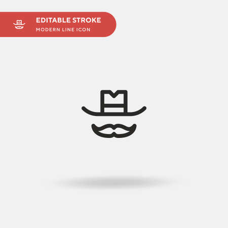 Western Simple vector icon. Illustration symbol design template for web mobile UI element. Perfect color modern pictogram on editable stroke. Western icons for your business project Çizim