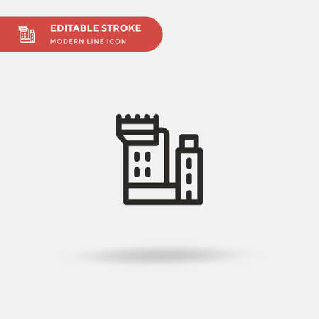 Blarney Castle Simple vector icon. Illustration symbol design template for web mobile UI element. Perfect color modern pictogram on editable stroke. Blarney Castle icons for your business project