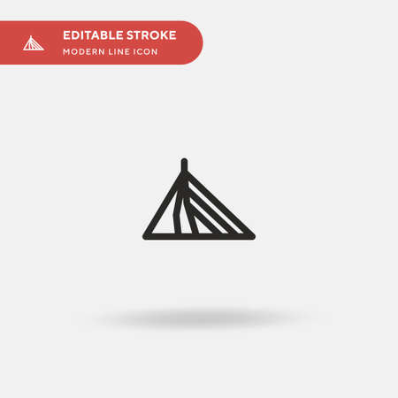 Erasmus Simple vector icon. Illustration symbol design template for web mobile UI element. Perfect color modern pictogram on editable stroke. Erasmus icons for your business project