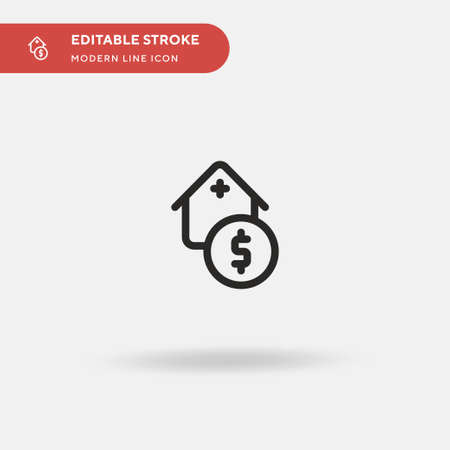 Credit Simple vector icon. Illustration symbol design template for web mobile UI element. Perfect color modern pictogram on editable stroke. Credit icons for your business project Ilustração