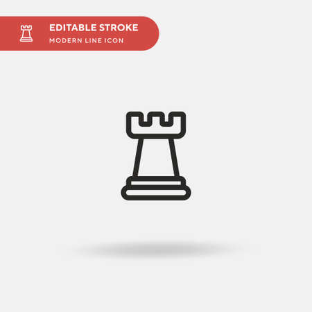 Chess Piece Simple vector icon. Illustration symbol design template for web mobile UI element. Perfect color modern pictogram on editable stroke. Chess Piece icons for your business project