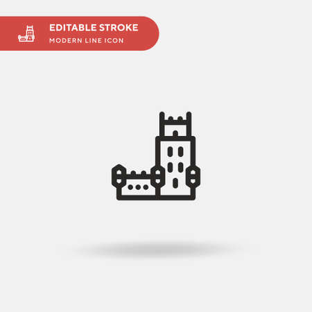 Belem Tower Simple vector icon. Illustration symbol design template for web mobile UI element. Perfect color modern pictogram on editable stroke. Belem Tower icons for your business project
