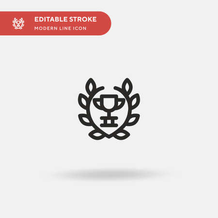 Wreath Simple vector icon. Illustration symbol design template for web mobile UI element. Perfect color modern pictogram on editable stroke. Wreath icons for your business project