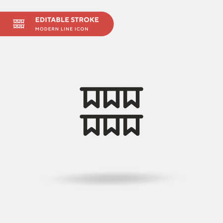 Garlands Simple vector icon. Illustration symbol design template for web mobile UI element. Perfect color modern pictogram on editable stroke. Garlands icons for your business project