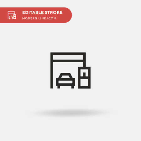 Toll Simple vector icon. Illustration symbol design template for web mobile UI element. Perfect color modern pictogram on editable stroke. Toll icons for your business project