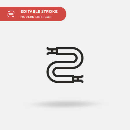 Wire Simple vector icon. Illustration symbol design template for web mobile UI element. Perfect color modern pictogram on editable stroke. Wire icons for your business project Çizim