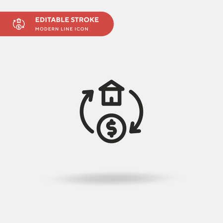 Exchange Simple vector icon. Illustration symbol design template for web mobile UI element. Perfect color modern pictogram on editable stroke. Exchange icons for your business project Ilustração