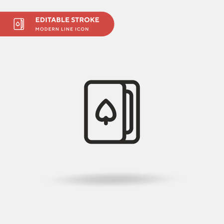 Cards Simple vector icon. Illustration symbol design template for web mobile UI element. Perfect color modern pictogram on editable stroke. Cards icons for your business project Ilustração