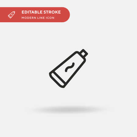 Toothpaste Simple vector icon. Illustration symbol design template for web mobile UI element. Perfect color modern pictogram on editable stroke. Toothpaste icons for your business project