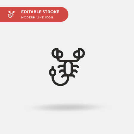 Scorpion Simple vector icon. Illustration symbol design template for web mobile UI element. Perfect color modern pictogram on editable stroke. Scorpion icons for your business project