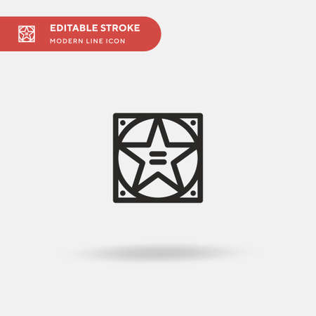 Walk Of Fame Simple vector icon. Illustration symbol design template for web mobile UI element. Perfect color modern pictogram on editable stroke. Walk Of Fame icons for your business project  イラスト・ベクター素材
