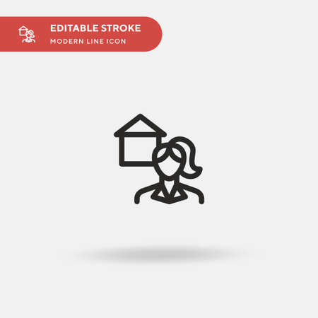 Realtor Simple vector icon. Illustration symbol design template for web mobile UI element. Perfect color modern pictogram on editable stroke. Realtor icons for your business project