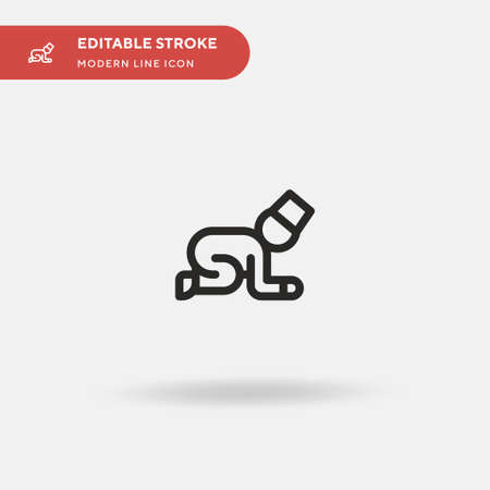 Pray Simple vector icon. Illustration symbol design template for web mobile UI element. Perfect color modern pictogram on editable stroke. Pray icons for your business project 일러스트
