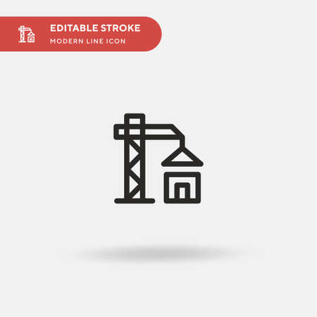 Construction Simple vector icon. Illustration symbol design template for web mobile UI element. Perfect color modern pictogram on editable stroke. Construction icons for your business project
