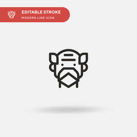 Grandfather Simple vector icon. Illustration symbol design template for web mobile UI element. Perfect color modern pictogram on editable stroke. Grandfather icons for your business project