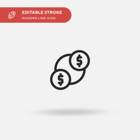 Money Transfer Simple vector icon. Illustration symbol design template for web mobile UI element. Perfect color modern pictogram on editable stroke. Money Transfer icons for your business project