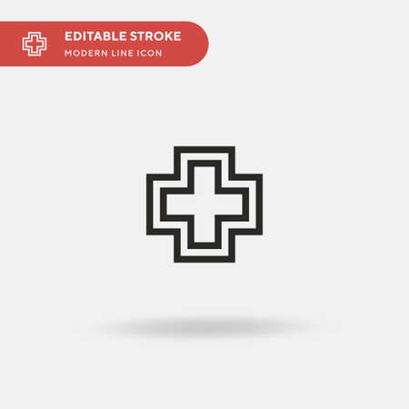 Health Simple vector icon. Illustration symbol design template for web mobile UI element. Perfect color modern pictogram on editable stroke. Health icons for your business project Ilustração