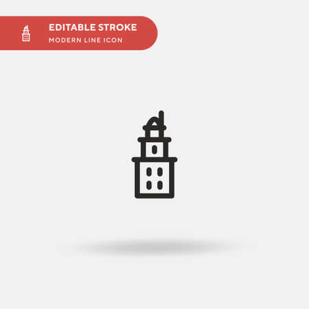 Tower Of Hercules Simple vector icon. Illustration symbol design template for web mobile UI element. Perfect color modern pictogram on editable stroke. Tower Of Hercules icons for your business project