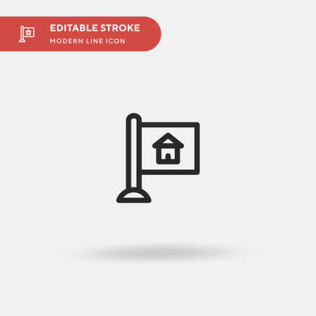 Signaling Simple vector icon. Illustration symbol design template for web mobile UI element. Perfect color modern pictogram on editable stroke. Signaling icons for your business project