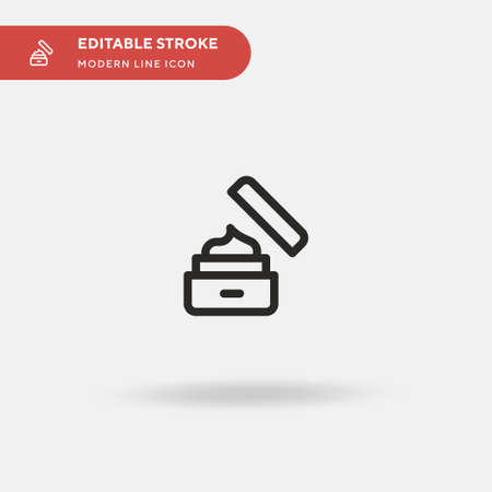 Cream Simple vector icon. Illustration symbol design template for web mobile UI element. Perfect color modern pictogram on editable stroke. Cream icons for your business project