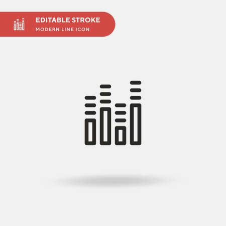 Sound Bars Simple vector icon. Illustration symbol design template for web mobile UI element. Perfect color modern pictogram on editable stroke. Sound Bars icons for your business project Ilustração