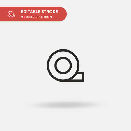 Duct Tape Simple vector icon. Illustration symbol design template for web mobile UI element. Perfect color modern pictogram on editable stroke. Duct Tape icons for your business project Stock Illustratie
