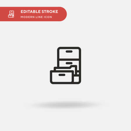 Archive Simple vector icon. Illustration symbol design template for web mobile UI element. Perfect color modern pictogram on editable stroke. Archive icons for your business project