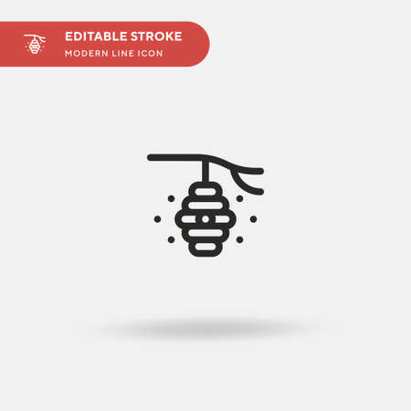 Hive Simple vector icon. Illustration symbol design template for web mobile UI element. Perfect color modern pictogram on editable stroke. Hive icons for your business project