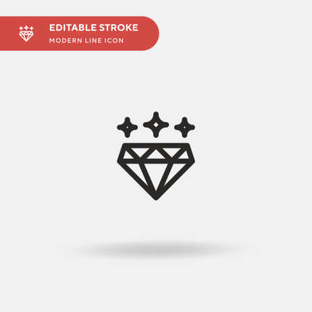 Diamond Simple vector icon. Illustration symbol design template for web mobile UI element. Perfect color modern pictogram on editable stroke. Diamond icons for your business project Stockfoto - 151065928