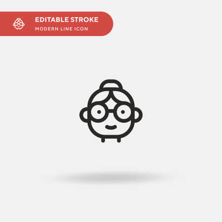 Grandmother Simple vector icon. Illustration symbol design template for web mobile UI element. Perfect color modern pictogram on editable stroke. Grandmother icons for your business project Illustration