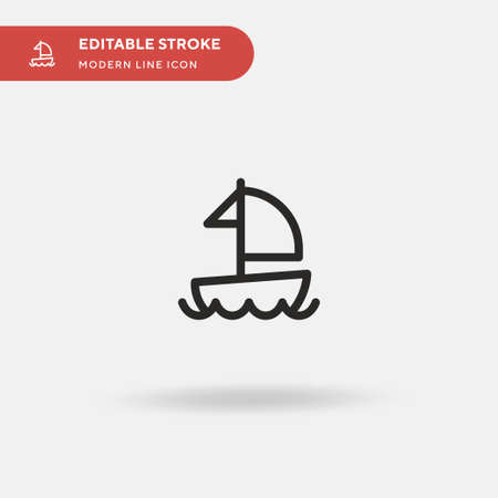 Boat Simple vector icon. Illustration symbol design template for web mobile UI element. Perfect color modern pictogram on editable stroke. Boat icons for your business project Stock Illustratie