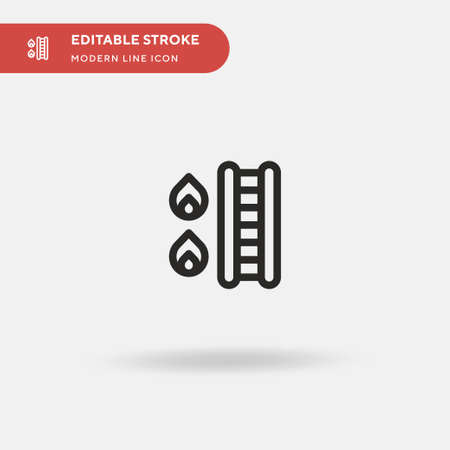 Fire Ladder Simple vector icon. Illustration symbol design template for web mobile UI element. Perfect color modern pictogram on editable stroke. Fire Ladder icons for your business project Vettoriali