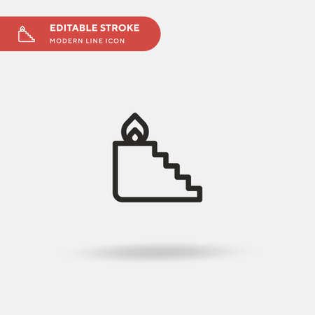 Stairs On Fire Simple vector icon. Illustration symbol design template for web mobile UI element. Perfect color modern pictogram on editable stroke. Stairs On Fire icons for your business project