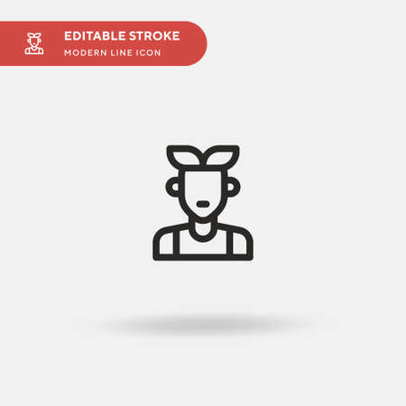Hipster Simple vector icon. Illustration symbol design template for web mobile UI element. Perfect color modern pictogram on editable stroke. Hipster icons for your business project Ilustração