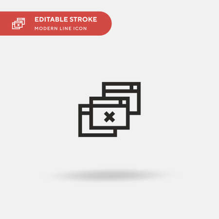 Pop Up Simple vector icon. Illustration symbol design template for web mobile UI element. Perfect color modern pictogram on editable stroke. Pop Up icons for your business project