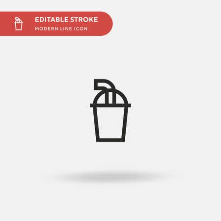 Milkshake Simple vector icon. Illustration symbol design template for web mobile UI element. Perfect color modern pictogram on editable stroke. Milkshake icons for your business project Ilustrace