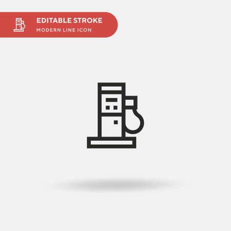 Fuel Station Simple vector icon. Illustration symbol design template for web mobile UI element. Perfect color modern pictogram on editable stroke. Fuel Station icons for your business project Stock Illustratie