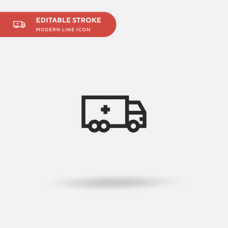 Truck Simple vector icon. Illustration symbol design template for web mobile UI element. Perfect color modern pictogram on editable stroke. Truck icons for your business project Stock Illustratie
