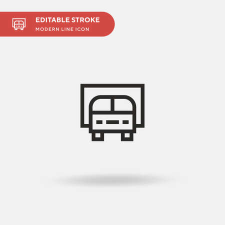Van Simple vector icon. Illustration symbol design template for web mobile UI element. Perfect color modern pictogram on editable stroke. Van icons for your business project